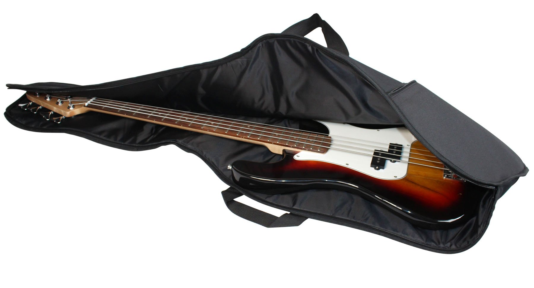 YMC 46-Inch Waterproof Dual Adjustable Shoulder Strap Electric Bass Guitar Gig Bag 5mm Padding Backpack with Accessories(Picks, Pick holder, Strap Lock) -For 43'' &46'' Full Size Bass Guitar by YMC (Image #3)