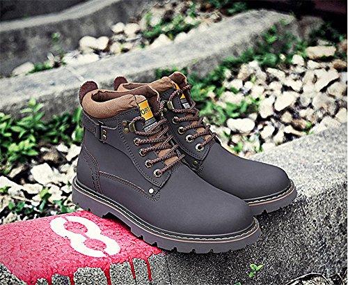Retro Zapatos Invierno Al Nuevos Dark Botas De Los Caliente Parte Tmkoo La Brown Nieve Británica Libre Aire Hombres Superior Casuales qRE874wWxf
