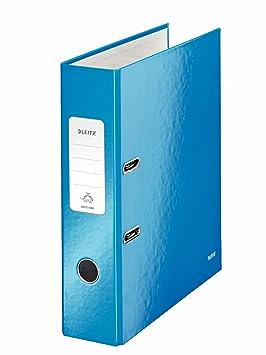 Leitz, Archivador de Palanca, Azul Metalizado, A4, Lomo de 8 cm ancho, 180° WOW, 10050036: Amazon.es: Oficina y papelería