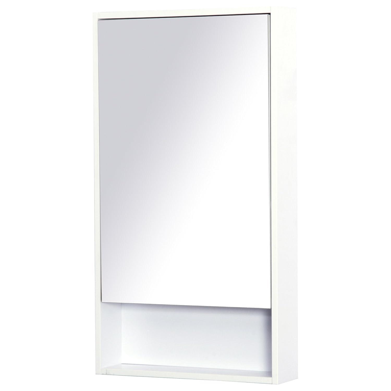 kleankin Armadietto con Specchio da Parete Salvaspazio Bagno Legno 50 × 90 × 12cm Bianco Aosom Italy