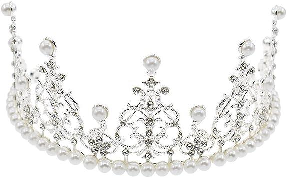 Amazon.com: janou corona decoración para tarta para perlas ...