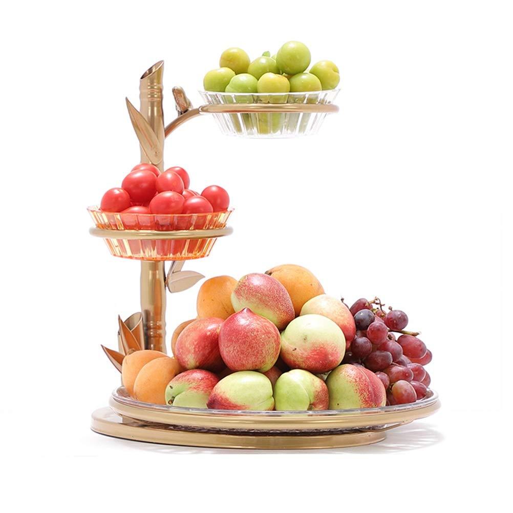 YLGROUP フルーツ野菜のスタンドストレージホルダー、パンのバスケット、フルーツバスケット、3段フルーツ/野菜金属バスケットラックのディスプレイスタンド -02365   B07R6C84JW