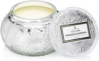 product image for Voluspa Yashioka Gardenia Embossed Glass Chawan Bowl Candle, 14 Ounces