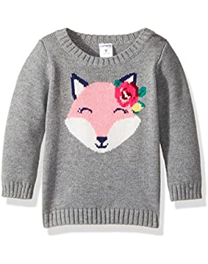 Fox Print Sweater