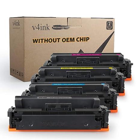 V4INK - Cartucho de tóner compatible sin chip para impresora Canon ...