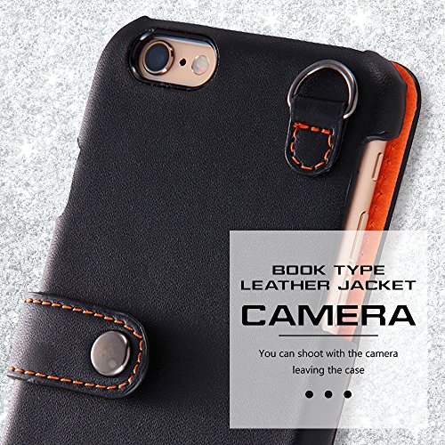 Book Cover Type Leather Case for iPhone 6 (Black)