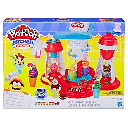 Play-Doh Confetti Compound Bundle Play-Doh Kitchen Creations Ultimate Swirl Ice Cream Maker