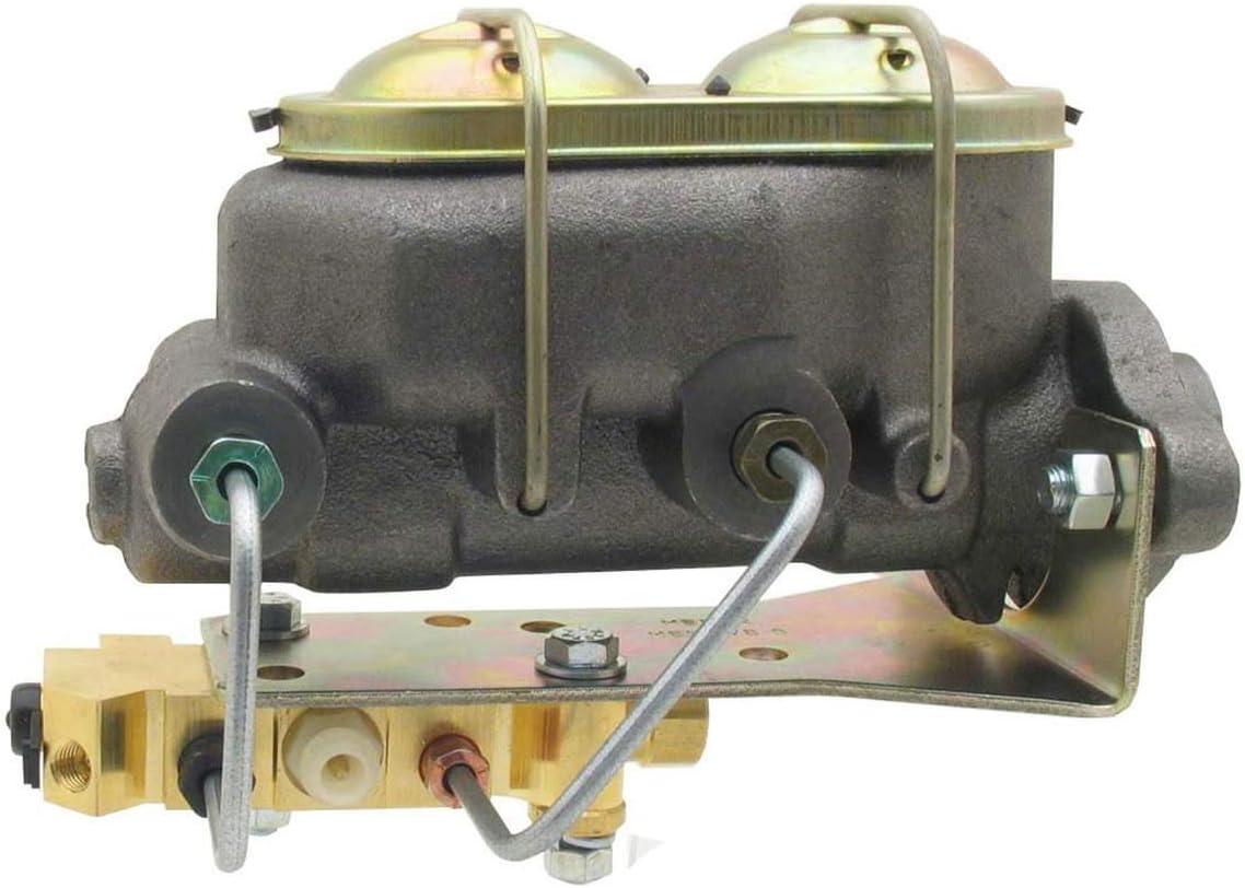 A-Team Performance Master Cylinder 4 Port Corvette Style GM Disc//Drum Proportioning Valve Lines