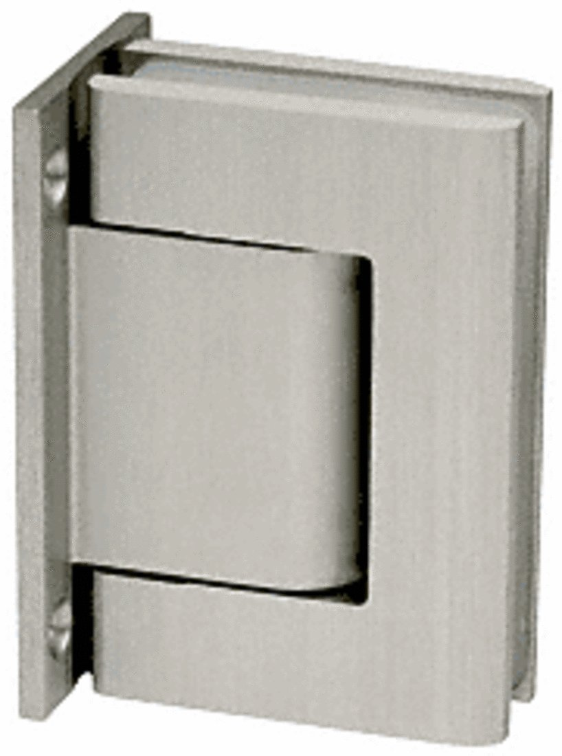 CRL Satin Anodized Oil Dynamic Full Back Plate Wall-to-Glass Hinge - Hold Open