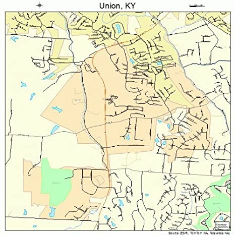 Amazon.com: Large Street & Road Map of Union, Kentucky KY - Printed ...