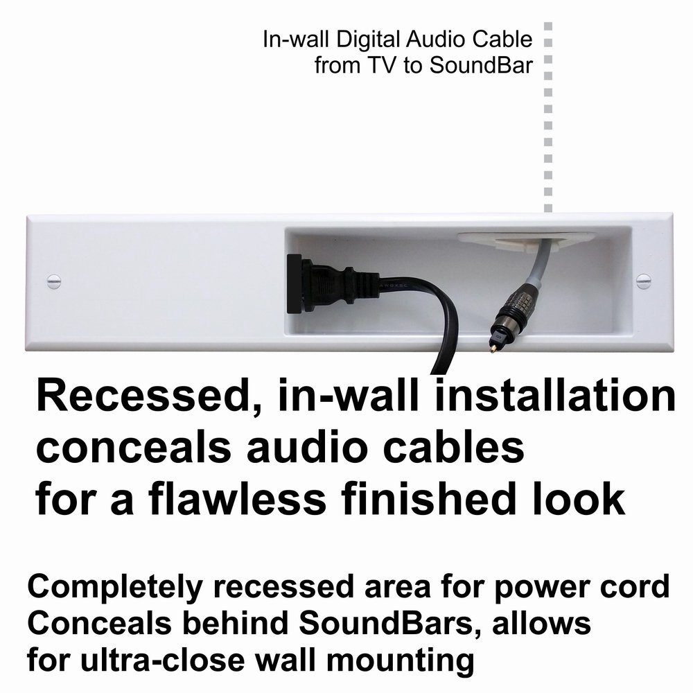 PowerBridge TWO-CK Dual Outlet for TV and Sound-Bar Recessed In-Wall Cable Management System Kit (TWOSB-CK) by PowerBridge Solutions (Image #10)
