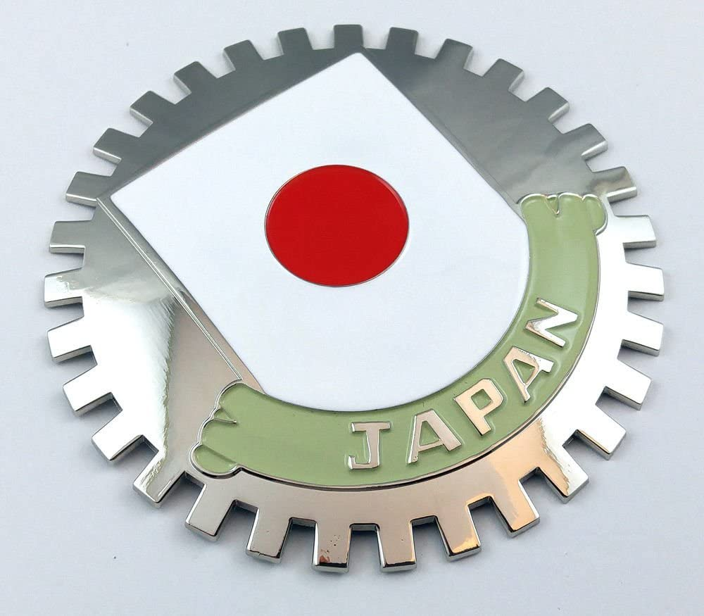 Japan Grille Badge for car Truck Grill Mount Japanese Flag