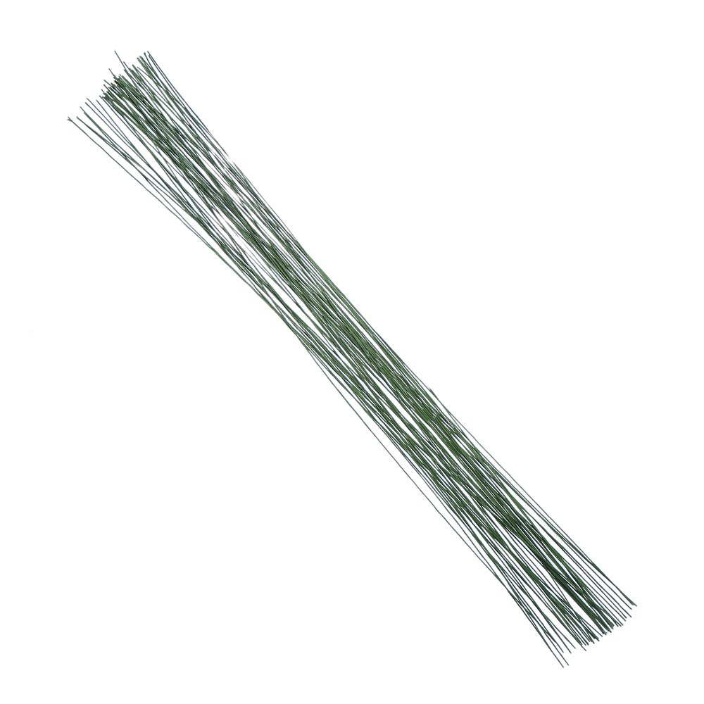 Decora 24 Gauge White Floral Wire 16 inch, 50/Package