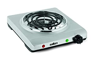 Salton THP-517 Electric Single-Coil Cooking Range, Stainless Steel