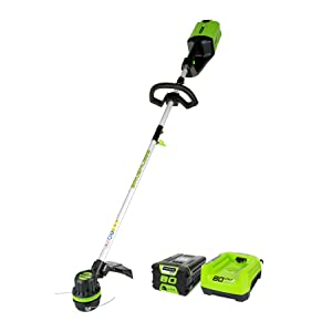 GreenWorks ST80L210 80V String Trimmer, 2.0Ah Battery & Charger Included