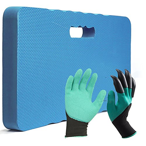 "Garden Claw Gloves with Kneeling Pad 1.5"" Thickness Best Match for Gardening and Lawn Care"