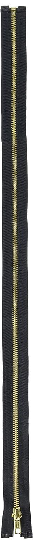 Coats Thread /& Zippers F2518-BLK Heavyweight Brass Separating Metal Zipper 18 Black