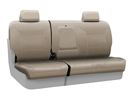Coverking Custom Seat Cover For Select Nissan Pathfinder Models   Premium  Leatherette (Taupe)