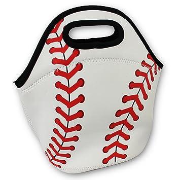 eedddfa81eef KNITPOPSHOP Baseball Zipper Cooler Lunch Bag Insulated Gifts Washable  Neoprene