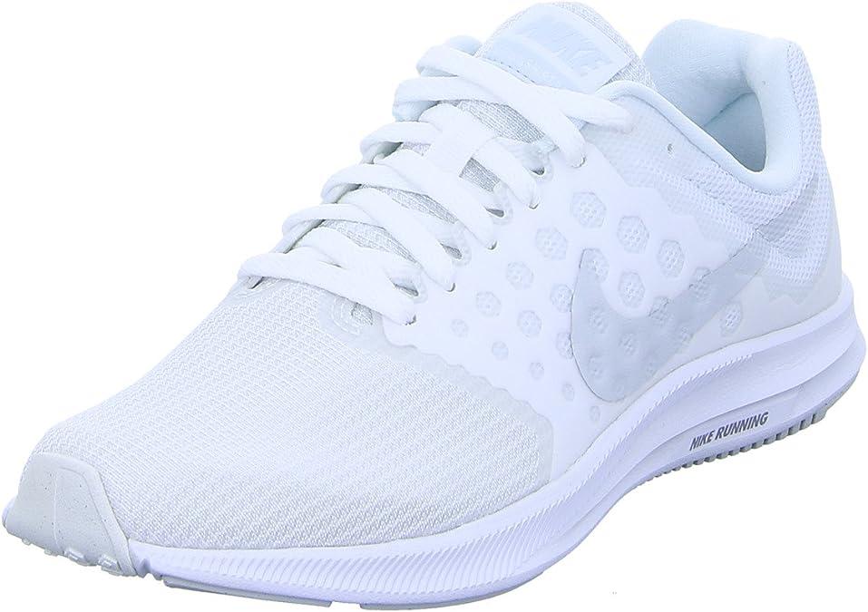 Nike Wmns Downshifter 7, Zapatillas de Running para Mujer, Blanco (Blanc/platine Pur), 38 EU: Amazon.es: Zapatos y complementos