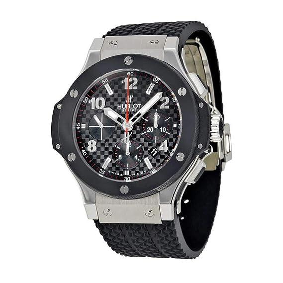 Hublot Big Bang - Reloj (Reloj de Pulsera, Masculino, Acero Inoxidable, Negro