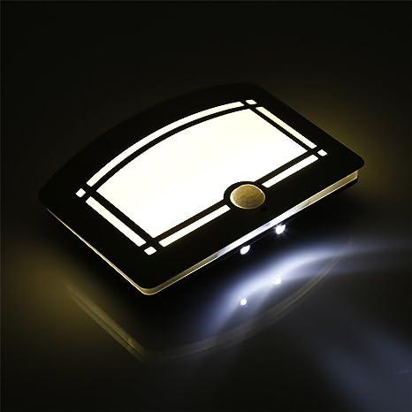 Luces LED de aluminio para pared con sensor de movimiento, palo inalámbrico en cualquier lugar