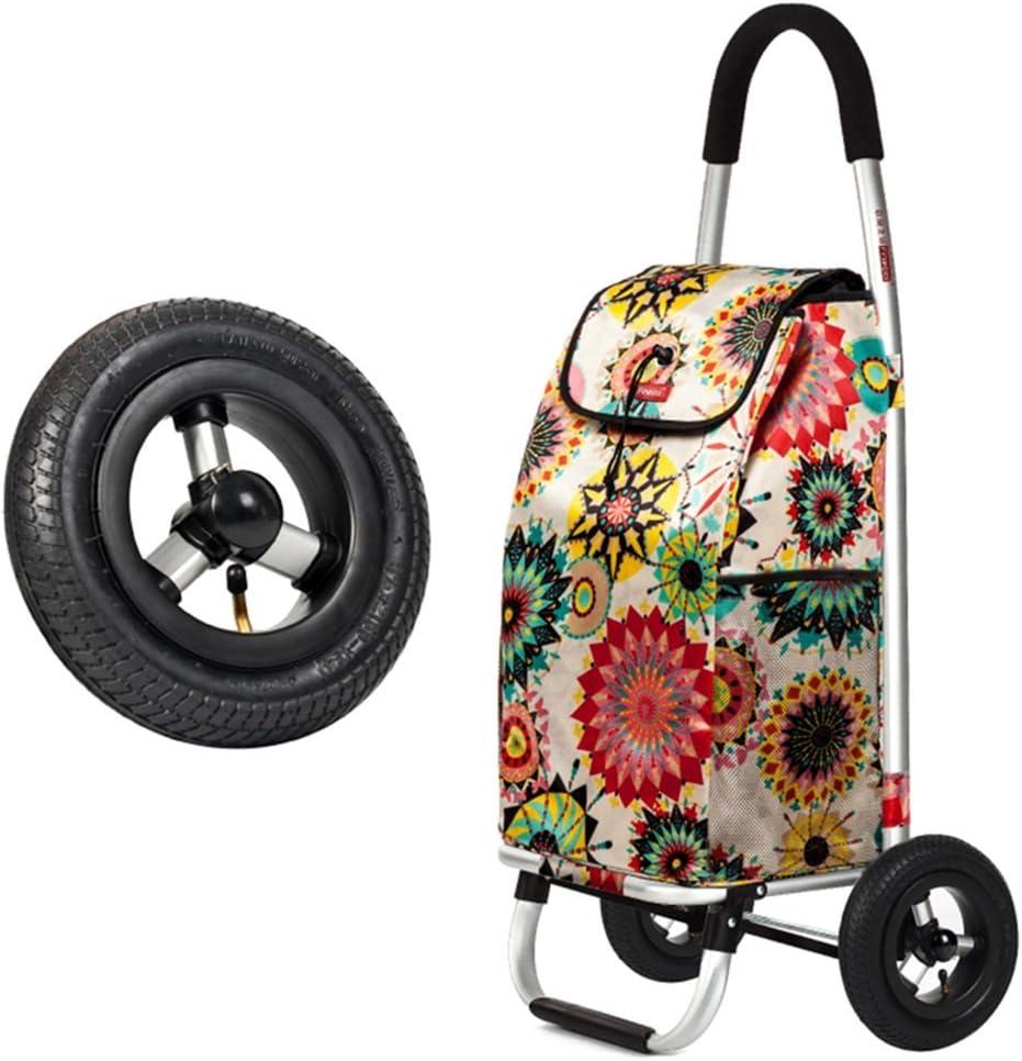 DNSJB Shopping cart Folding Portable Shopping cart Climbing Stairs Trolley car Trailer Small cart Insulation Trolley