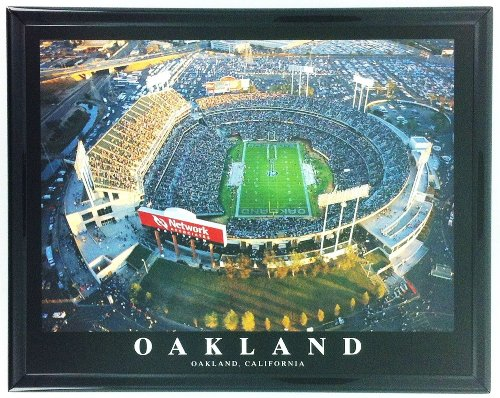 NFL Football Oakland Raiders Coliseum Framed Wall Art F7540A
