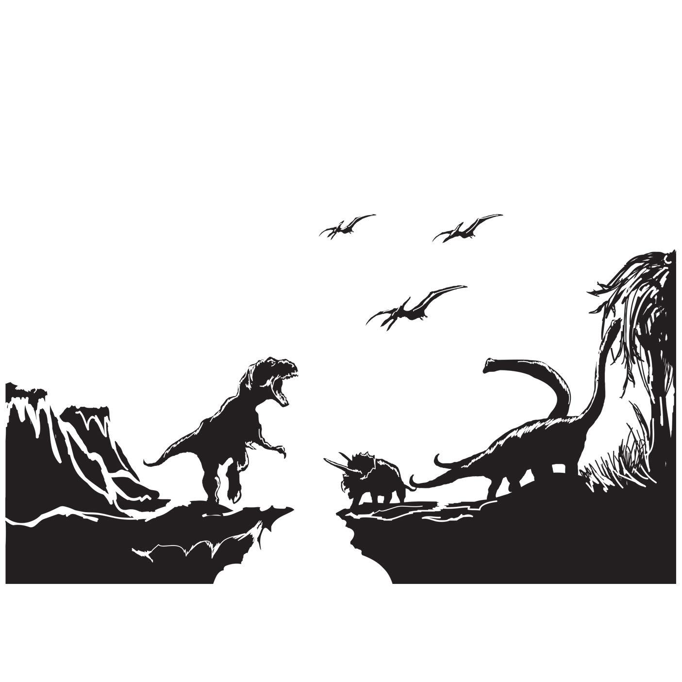 Vinilo Decorativo Pared [08DI1MFI] Jurassic park dinosaurios