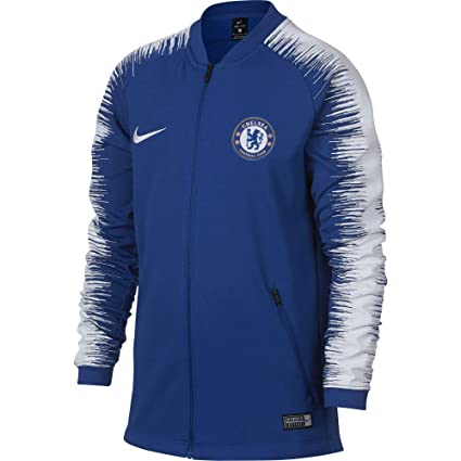 3f09a5a92 Amazon.com : Nike 2018-2019 Chelsea Anthem Jacket (Blue) : Clothing