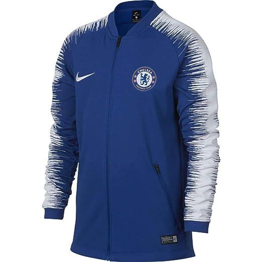 free shipping ade9a 65bf2 Amazon.com : Nike 2018-2019 Chelsea Anthem Jacket (Blue ...