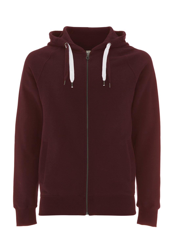 Zip Up Hoodie for Men - Fleece Jacket - Mens Zipper Cotton Hooded Sweatshirt Underhood of London