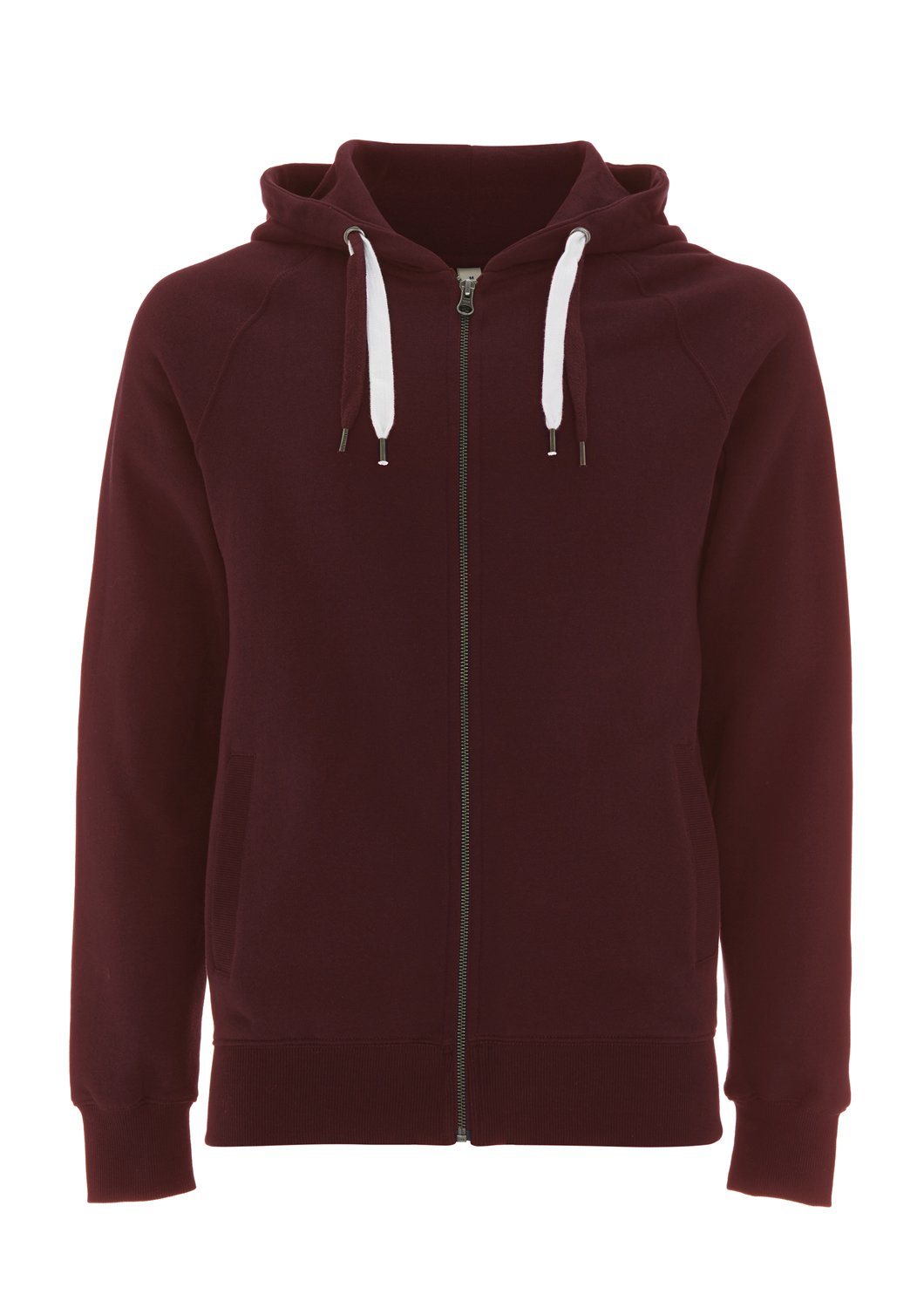 Underhood of London Claret Red Hoodie for Men - X Small - XS - Boys Zipper Zip Up Cotton Sweatshirt by Underhood of London
