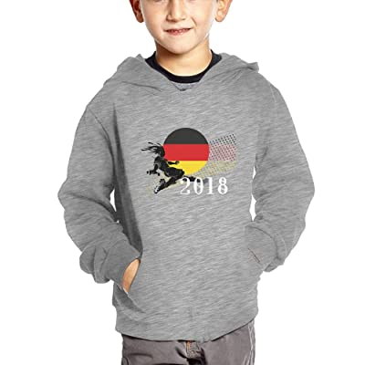 2018 Play Football Germany Baby Boy Children's Soft Pullover Hoodies Cute Hooded Sweatshirts with Pockets