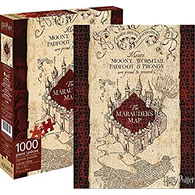 Aquarius Harry Potter Marauders Map 1000 Piece Jigsaw Puzzle: Toys & Games