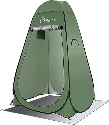 WolfWise Tienda de Campaña Tent Abrir Cerrar Automáticamente Pop Up Portable Sirve para Camping Playa Bosques Zonas de Aseo Carpas