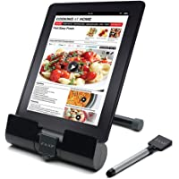 ZAAP(USA) Phone and Tablet Stand/Holder with Integrated Stylus, Universal Compatibility (Black)