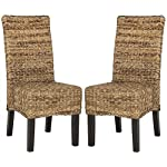 Safavieh Home Collection Avita Natural Wicker 18-inch Dining Chair (Set of 2)