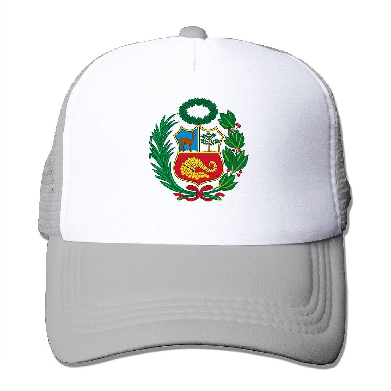 89b3fde3a4950 Amazon.com  SHINENGST Peru Mesh Trucker Caps Hats Adjustable For Unisex  Ash  Clothing