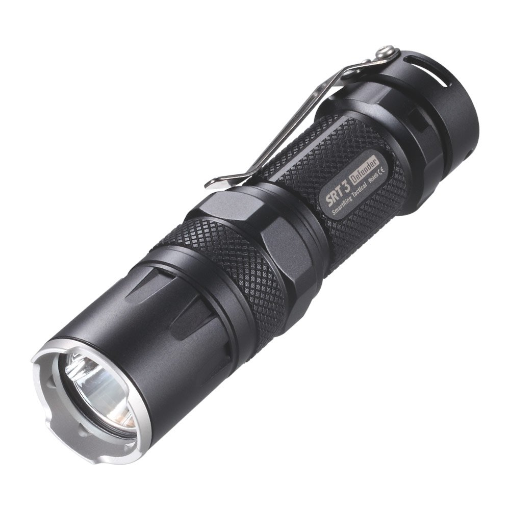 NiteCore SRT3 XM-L2 LED Lampe mit SmartRing und Multicolor LEDs, Farbe:army grey