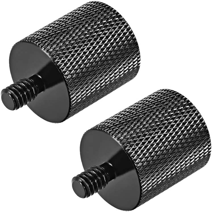 """uxcell 1//4/"""" Male to 5//8 inches Female Threaded Screw Adapter for Microphone Tripod Stand 2pcs"""
