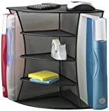 Generic NV_1008002548_YC-US2 SpaceShe Desk Corner Organizer sk Co Office School Organ Black Steel Mesh Black 5 Shelves l Mes File Folder Space Office