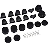 Enjoins L2 R2 L1 R1 Trigger Replacement Parts Buttons Replacement Joysticks Thumbstick with 8 Pack Silicone Thumb Stick Grips Cap Cover Compatible with PS4 Controllers, Black