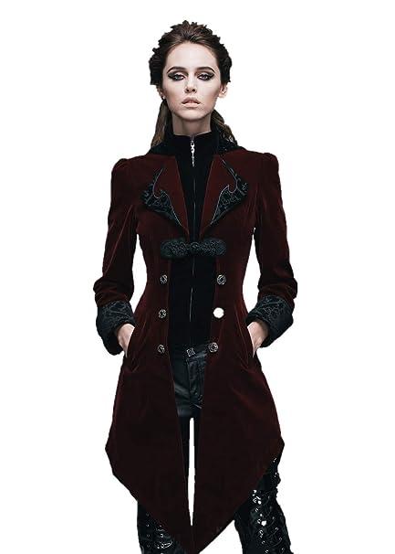 Amazon.com: Devil Fashion Steampunk Swallow Tail - Abrigo ...