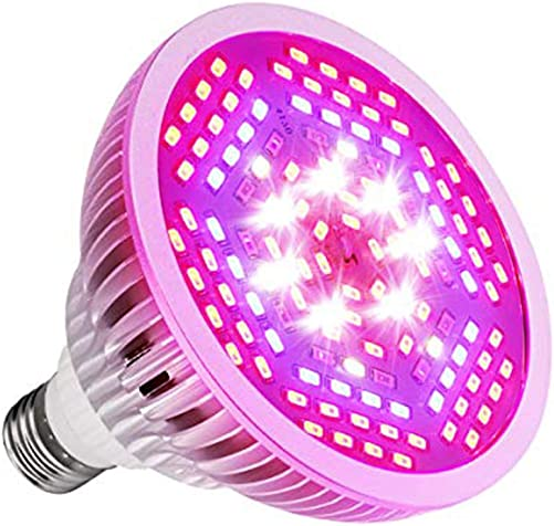 Allnice 80W LED Grow Light Bulb Full Spectrum Grow Light Bulbs E27 Base 120 LEDs AC90-260V Plant Growing Lamps for Indoor Garden, Greenhouse, Seeding, Veg, Flowers and Hydroponic Plants