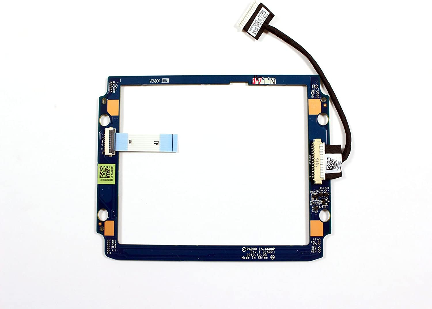 Genuine Dell Alienware M18x Touchpad Track Point Track Ball Touchpad LED Board HV240