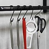 24 Pack Black S Hooks, S Shaped Hooks for