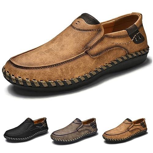 Mocasines para Hombre Zapatos de conducción Slip-On Casuales del Zapatos de Cuero del Zapato de la Zapatilla de Deporte: Amazon.es: Zapatos y complementos