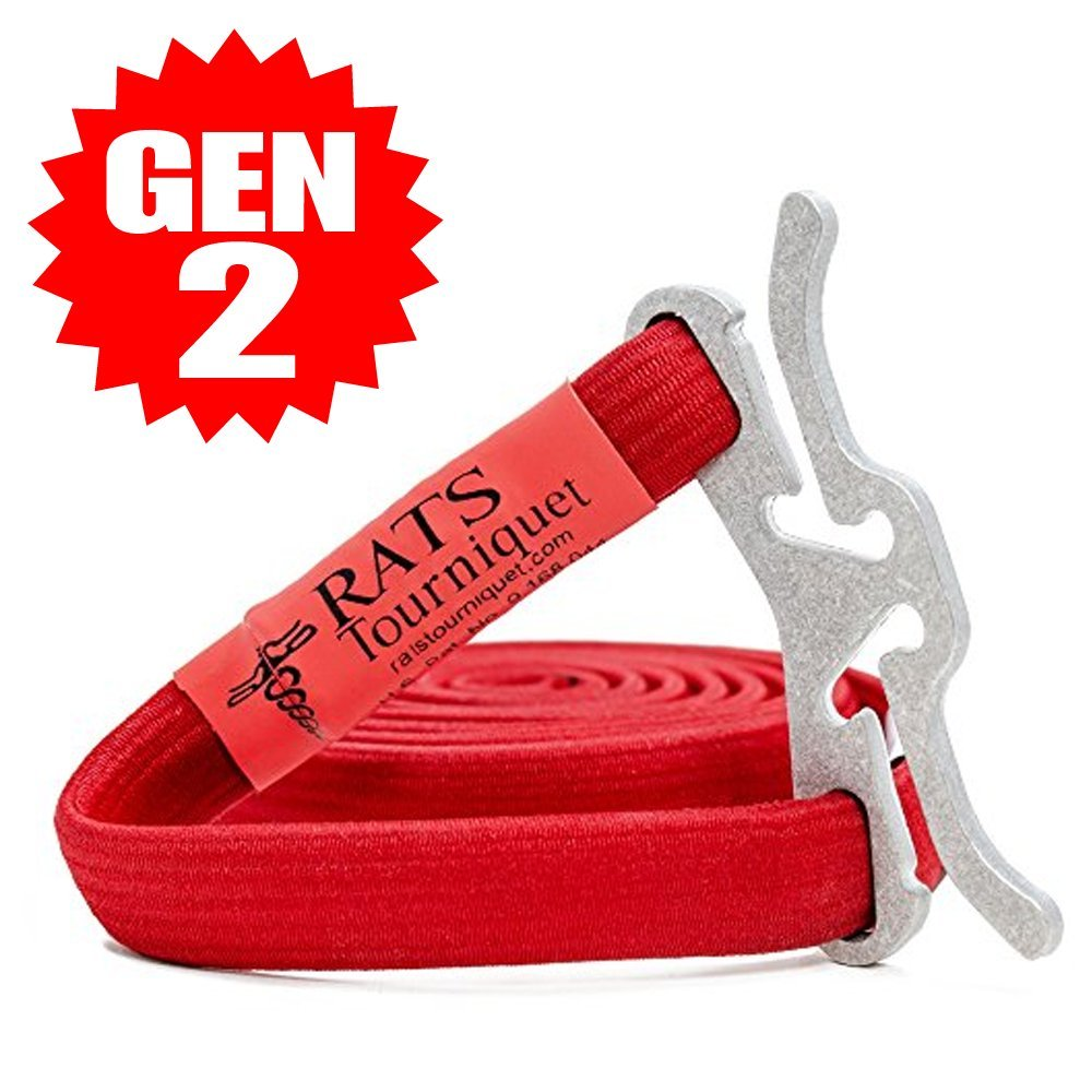 RATS GEN 2 Rapid Application Tourniquet System | Life Saving | Hemorrhage Kit | Emergency | First-Aid | Survival (Red, 1 Pack)