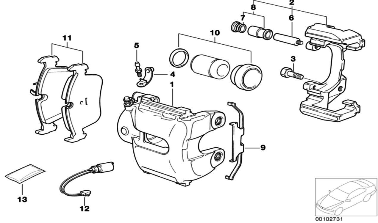 Bremssattelschraube Fr Bmw M12 X 15 32 Zns3 34116772428 E36 M43 Engine Diagram Auto
